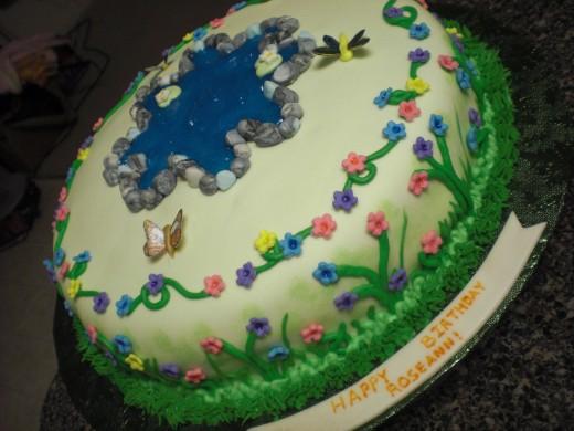 A friend's birthday cake    Spring!!
