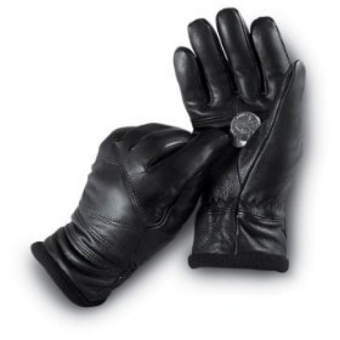Ladies' Italian Leather Dress Gloves Black by Jacob Ash