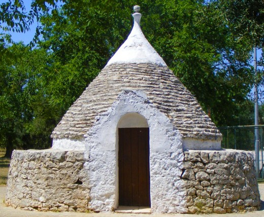 Trulli of Alberobello are characterized by their dome-shaped roofs.