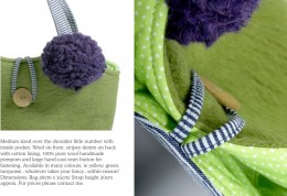 Detail from ClaraB designer handbags for daywear