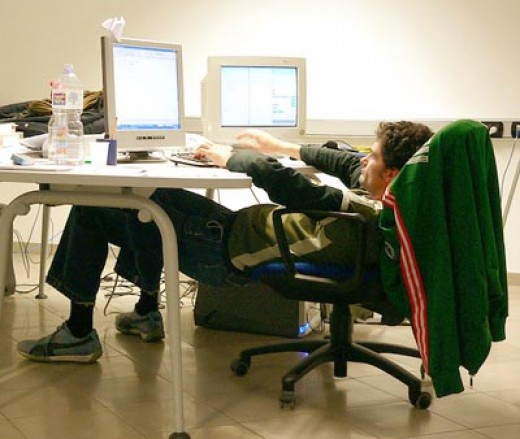 Use of ergonomics to improve condition of employees at workplace.