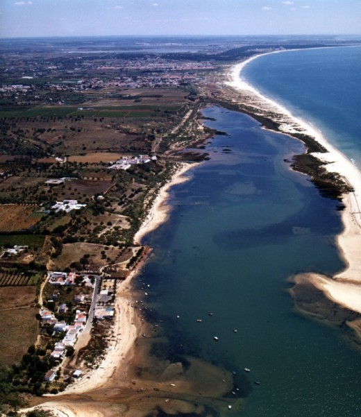Eastern most point of Ria Formosa