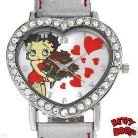 Betty Boop wrist watch with crystals
