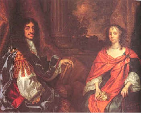King Charles II and Queen Catherine of Braganza (portrait from the late 17th century).