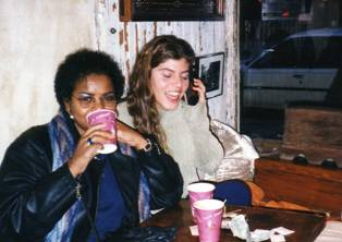 1998, Greenwich Village, New York  Jennifer Digennaro (on right)