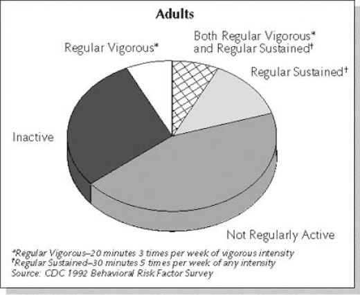 Activity patterns in adults.