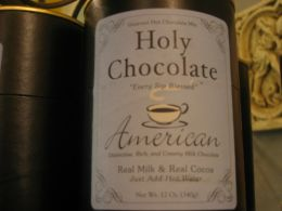 Holy Hot Chocolate in the National Cathedral Store.
