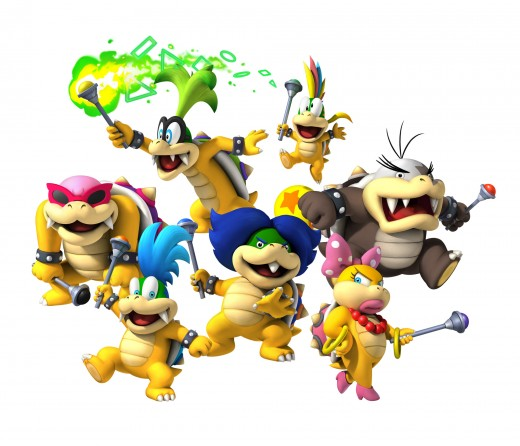The Koopalings/Koopa Kids - Your main enemies
