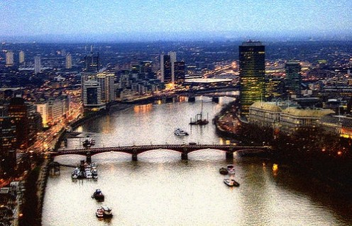 The Thames, from the London Eye Photo: binarystatic