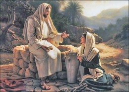 Jesus the soul-winner and the water of life.  Picture from   wateroflifeministry.com