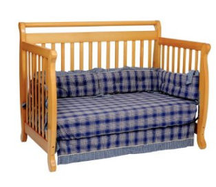 The Emily crib from DaVinci, converted into a day bed.