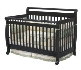 The Davinci Emily crib in ebony color.