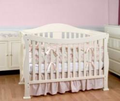 The DaVinci parker crib in white.