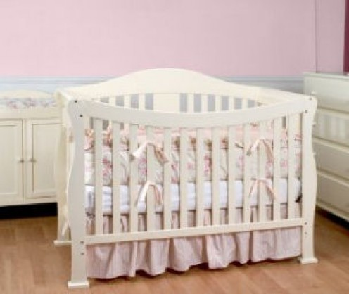 The DaVinci parker crib in white.