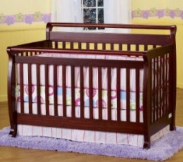 The cherry version of the DaVinci convertible Emily crib.