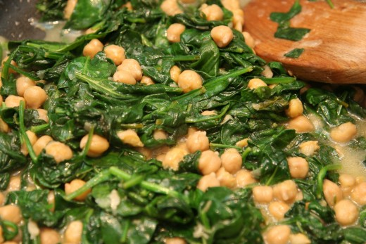 Lemon Chickpea & Spinach