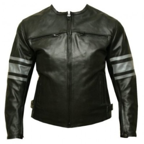 Womens Leather Jacket Motorcycle Armor Ladies Black GM