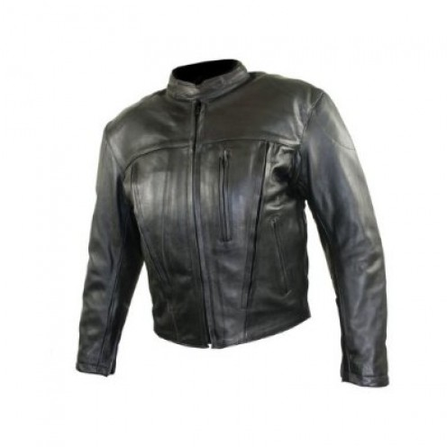 Ladies Armored Leather Motorcycle Jacket