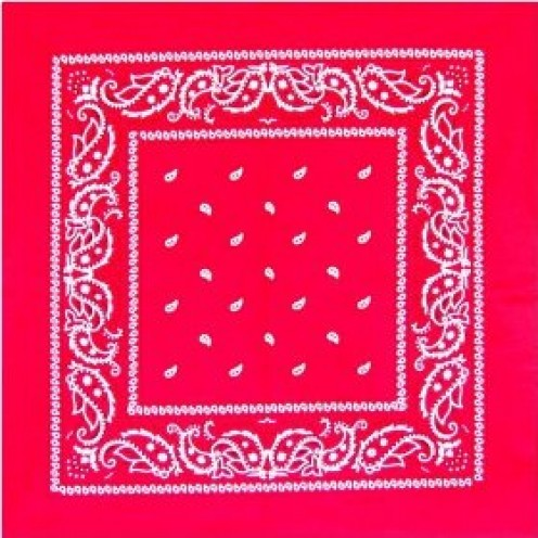 Red Paisley Bandannas - 12 Pack by 3rdPO