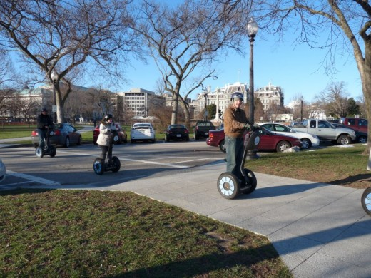 A Segway tour passing by