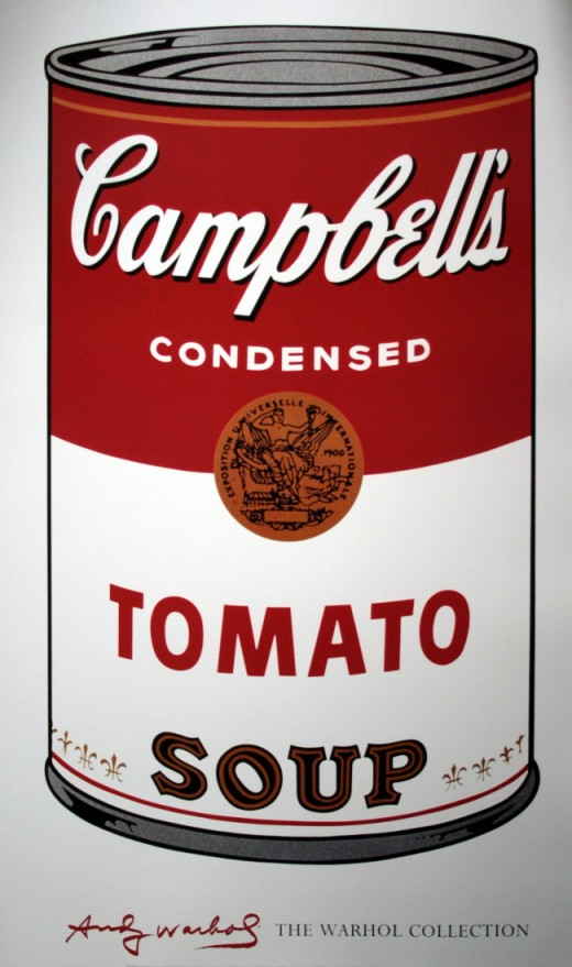 Warhol's famous Campbell's soup can