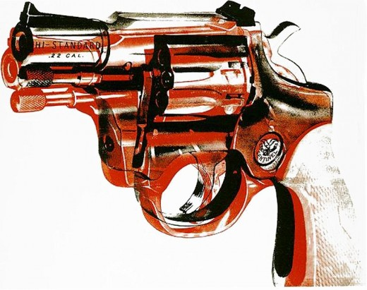 A gun print created by Warhol in 1981