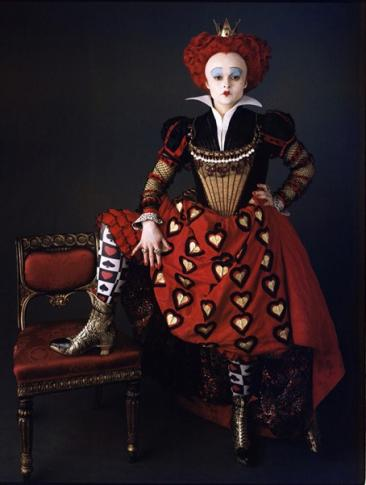 Helena Bonham Carter playing the Red Queen in the Tim Burton adaption. Picture borrowed through open.salon.com