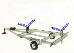 "This V-frame trailer is for carrying your ""Precious"" all by itself. One trailer, one boat!"