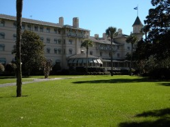 The front of the Jekyll Island Clubhouse