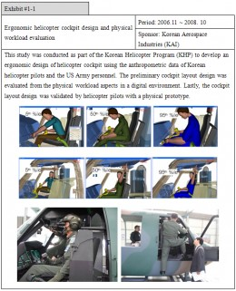 Ergonomic design of a helicopter cockpit for reducing stress. This is a Korean study.  Courtesy: Korean Aerospace Industries (KAI)