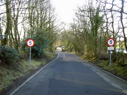 The car park is accessed from Beacon Lane Upholland.