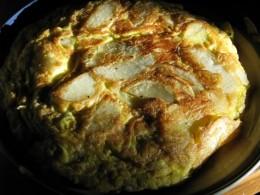 variation: tortilla made with sliced potato
