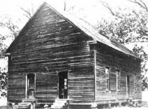 The third McMahan's Chapel, from a 1900 photograph