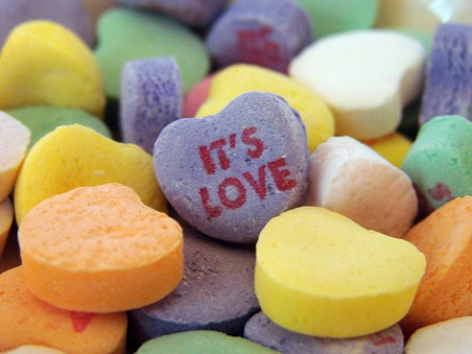 Valentine's conversation hearts candy