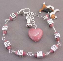 """Made by a special woman who owns """"For Love of a Dog Jewelry!"""""""