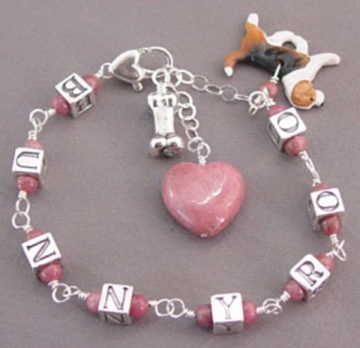 "Made by a special woman who owns ""For Love of a Dog Jewelry!"""