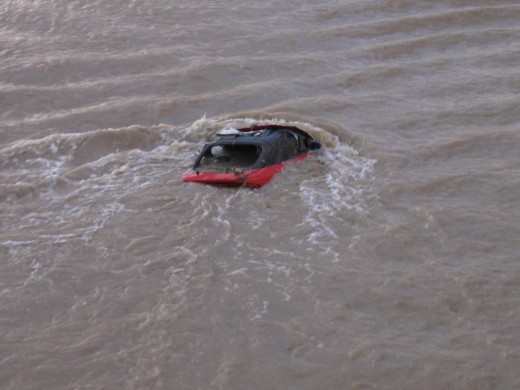 This car was swept away.