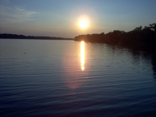 Sun setting over the Maumee