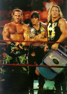 DeGeneration X in 1997; Shawn Michaels, Chyna and Triple H