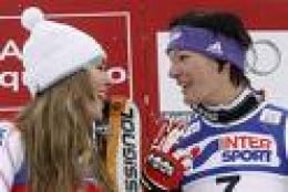 Lindsey Vonn and Maria Riesch able to compete as equals and remain best friends.     Photo: nationalpost.com