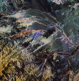 SATELLITE VIEW OF THE ANDES MOUNTAINS