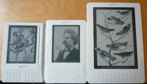 Kindle, Kindle 2 and Kindle DX