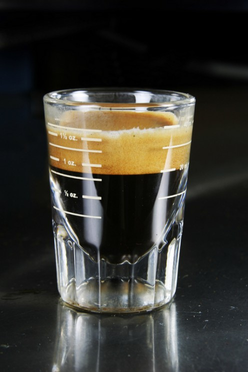 Authentic espresso shot