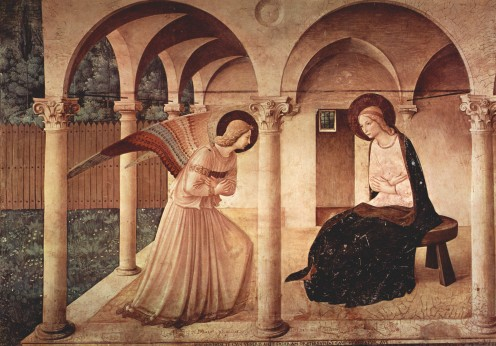 """""""The Annunciation"""" fresco by Fra Angelico"""