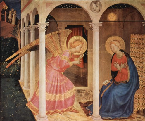 """The Annunciation"" oil on panel by Fra Angelico"