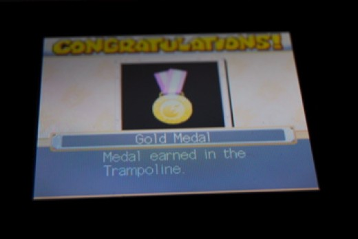 Gold Medal in Trampoline