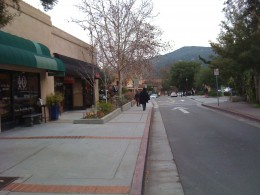Los Gatos, the main street.