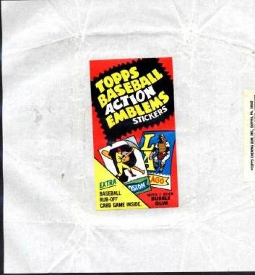 1974 Topps Baseball Action Emblems