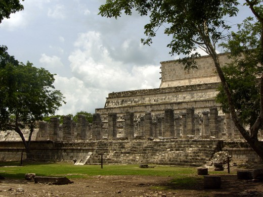 The ruins of the infamous Thousand Columns at Chichen Itza