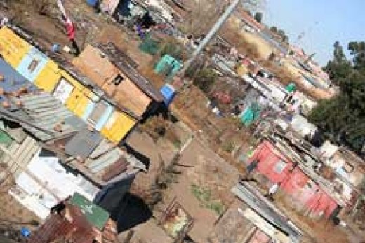 Abahlali baseMjondolo represent many shck dwellers in areas which look like the slum above. the represent the largest autonomous and militant group of poor people in the country, and have successfully they fended the shack dwellers from the ANC.